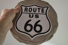 Man Cave Route Us 66 - Garden Stone / Wall Art Plaque 9.5 - Inch Resin Composite