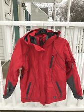 SESSIONS Snowboarding Jacket Women Sz. M Ski SUMMIT Red RECCO Equipped, EUC