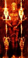 SHROUD OF TURIN ACTUAL SIZE!!!!  36x74 printed on High Quality ART Canvas!