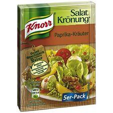 """15 x Single Packs """"KNORR Salatkroenung"""" Seasonings (Paprika-Herbs)"""