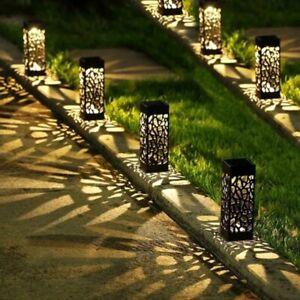 Solar Lawn Light Decoration Garden Hollow Lawn Lamp Outdoor Garden Light Pathway