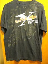 RED BULL FIGHTERS FOX RACING ~ LARGE ~ OFFICIAL Motocross 2 Sided T Shirt