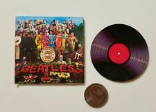 Miniature Record Album Barbie Gi Joe  action Figure size Playscale Beatles