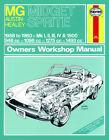 MG Midget + Austin-Healey Sprite Reparaturanleitung workshop service manual Buch