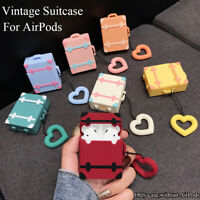 with Finger Ring Strap Luggage Case Earphone Protect Cover For Apple AirPods