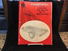 Vintage 1973 IHC  530,540,550,555 Manure Spreaders Manual - Very Good Condition