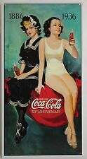 COCA-COLA 50TH ANNIVERSARY METAL SIGN Coke Bathing Suits 1936 NEW Repro Vintage