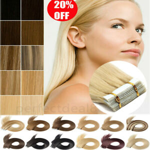 8A Russian Tape In Thick-Glue 100% Remy Real Human Hair Extensions UK STOCK M931