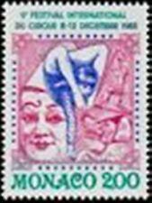 "MONACO STAMP 1397 "" CIRQUE CLOWN ACROBATE ELEPHANT ET FUNAMBULE "" NEUF xx LUXE"