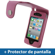 Rosa Funda Eco-Piel para Apple iPhone 4 & 4S 4G 16GB 32GB 64GB Carcasa Case