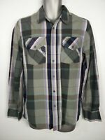 BNWT MENS G BY GUESS FROST GREY CHECK LONG SLEEVE SMART CASUAL SHIRT SMALL€49.50