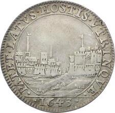 O3868 RARE R2 Jeton Louis XIV 1643 Écus France Navarre Port de Mer argent