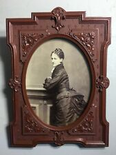 GUTTA PERCHA THERMOPLASTIC WALL FRAME, 1876 DUNSHEE Boston Cabinet Photo Yg Lady