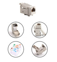 2 Pack RJ45 8P8C CAT 7 Modular plug Ethernet Network Connector Shielded