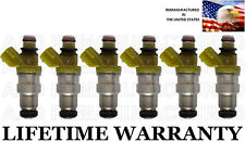 *BEST UPGRADE* 4 HOLE NOZZLE OEM DENSO Set Of 6 Fuel Injectors for Toyota 3.0L