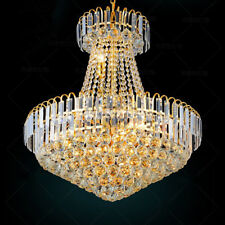 ASG Gold European Style Crystal Chandeliers Parlor Corridor Decor Ceiling Lamps