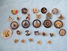 LOT of 28 PCS Different Lapel Pins Masonic Badge Collections Mason Freemanson
