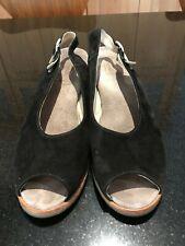 Wolky Black Aspe Suede Slingback Sandal Size 38/US 7.5-8 EUC