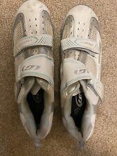Louis Garneau LG Ergo Grip White Cycling Shoes EU 44 US 10.5 Cycle EUC Fast Ship