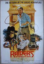"English 1 sht Movie poster 27x40"" RAIDERS OF THE LOST ARC Spielberg Film 1981 VF"