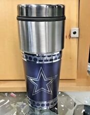 NFL Dallas Cowboys Travel Tumbler Football Fan Coffee Mug Cup 7.5""