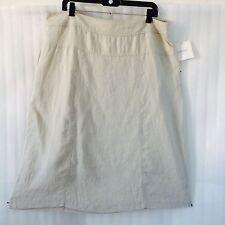 Ellen Tracy Women's Pencil Skirt size 16 Sandstone Linen Casual B/Knee New $69