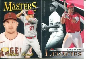 (2) 2021 TOPPS FINEST BASEBALL MIKE TROUT LEGACIES, 1997 FINEST MASTERS