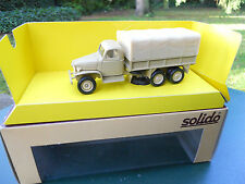 SOLIDO MILITAIRE GMC SABLE PROMOTIONNEL MARCHE HOLLANDAIS RARE MINT IN BOX
