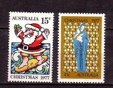 AUSTRALIA 1977 Christmas set MUH