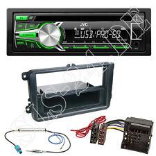 JVC USB CD AUX Autoradio grün VW Beetle Caddy Eos Golf Radio Blende ISO Adapter