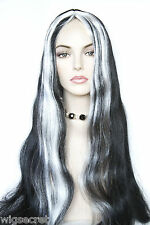 Helga Long Brunette Straight Black Snow White Streek Costume Wigs