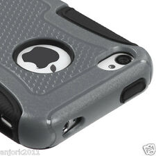 iPhone 4 4S Hybrid Fusion Case Skin Cover Accessory Gray Black