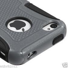 iPhone 4 4S Hybrid Fusion Case Skin Cover Accessory Gray Black
