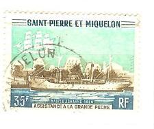 TIMBRES St PIERRE ET MIQUELON OBLITERE YVERT N° 411
