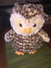 "Fleet Farm plush stuffed animal OWL 2017 promotional 13"" dated wing patch logo"