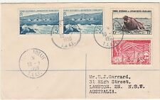 FRENCH ANTARCTIC TERRITORIES 1958 REGISTERED COVER TO AUSTRALIA