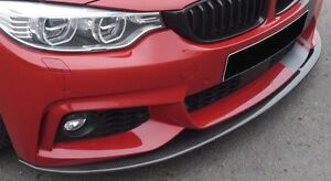 Rieger BMW F32 4 Series Front Spoiler Lip For M Sport front Bumper Carbon Look