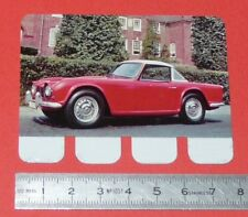 N°29 TRIUMPH TR 4 PLAQUE METAL COOP 1964 AUTOMOBILE A TRAVERS AGES