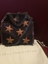 STELLA Mccartney Alter in pelle in rilievo MINI STAR FALABELLA Tote Borgogna