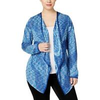 05469baa03 INC Women s Plus Goddess Blue Space-Dyed Waterfall Open Front Cardigan -  Size 0X