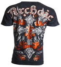 Archaic AFFLICTION Men T-Shirt VELOCITY Cross Wings Tattoo Biker UFC M-4XL $40 a