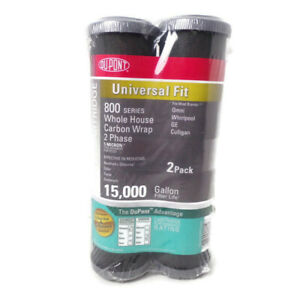 """Two Pack Dupont 800 Series 10"""" Cartridge Whole House Carbon Wrap 2 Phase"""