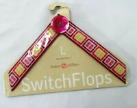 "Lindsay Phillips ""Morgan"" SwitchFlops Interchangeable Straps Size Large New"