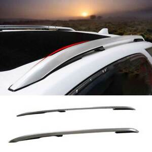 For Chevrolet Equinox 2018-2021 Silver Aluminum Roof Rail Luggage Rack Luggage