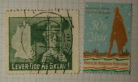 American Hungarian Federation 50th Year Charity Seal Poster Stamp