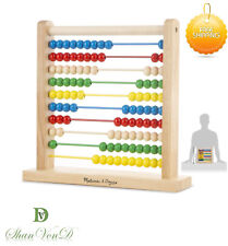 Autism Educational Toys Wooden Abacus Educational Toy Maths Colour Recognition