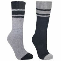 Trespass Mens Hitched Two Tone Anti Blister Hiking Boot Socks (2 Pairs) TP323