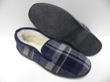 Chaussons bleu marine pour HOMME taille 45 garcon laine slippers blue man NEUF