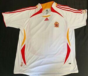 Maillot Espagne Espana 2005 camiseta football vintage Adidas jersey Spain XL