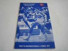 Rare 1986/87 Vintage NAIA Basketball Simon Fraser Mens/Womens Schedule